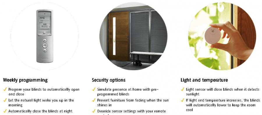 case eficiente termic senzori lumina, temperatura