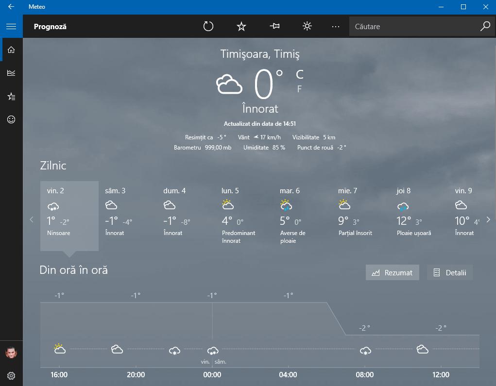Temperatura joasa - feels like